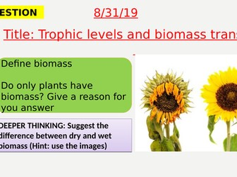 AQA new specification-Trophic levels and biomass transfers-B18.8-9