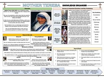 Mother Teresa Knowledge Organiser!