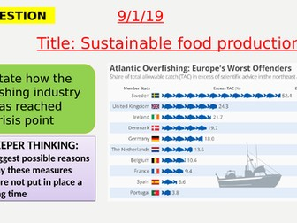 AQA new specification-Sustainable food production-B18.12