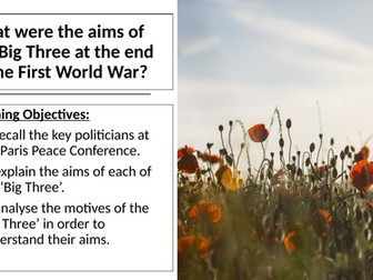 AQA: Aims of the 'Big Three' at the Paris Peace Conference