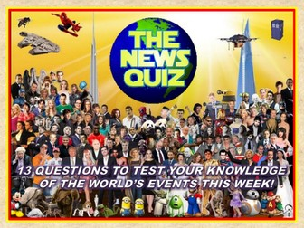 The News Quiz 2nd - 9th September 2019 Form Tutor Time Current Affairs
