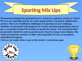 Sporting Mix-Ups