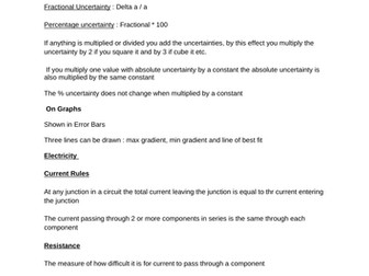 Complete Notes for AQA A Level Physics by drummerJ101