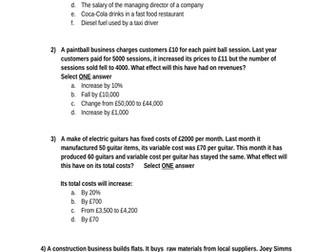 GCSE Business (9-1) Theme 1 revision lessons