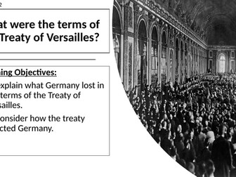 AQA: Terms of the Treaty of Versailles