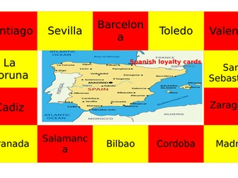 Spanish Reward card