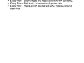 Edexcel Economics A-level: Theme 2 Essay Plans/Exam Responses
