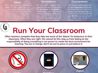 Run Your Classroom Staff Sheet and Poster