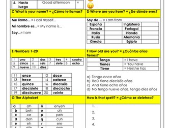 Spanish beginners: a whole lesson on the basics: introducing yourself, numbers, alphabet and more!