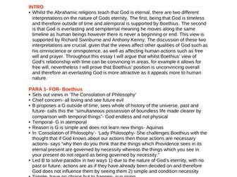 OCR RELIGIOUS STUDIES- Nature or  attributes of God ESSAY PLANS