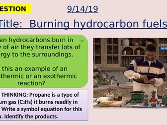 AQA new specification-Burning hydrocarbon fuels-C9.3