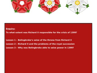 Lancastrians, Yorkists and Henry VII: Flipped learning resource 1