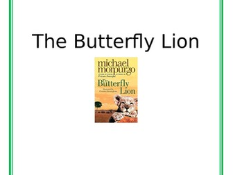 Butterfly Lion Guided Reading Booklet