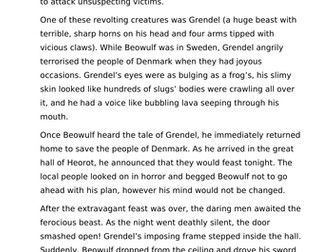 Beowulf Short Story