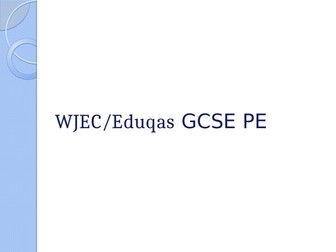 WJEC GCSE -  Area of Study 1 Health and Fitness