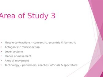 WJEC GCSE Area of Study 3 Movement Analysis