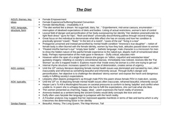 The Diet Analysis Revision Table (read note in description)