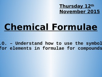 Practicing Using Chemical Formulae - Atoms Elements Compounds L3