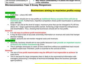 Theme 3 Edexcel Economics Essay Plans: Objectives/Mergers/Monopolistic/Monopoly