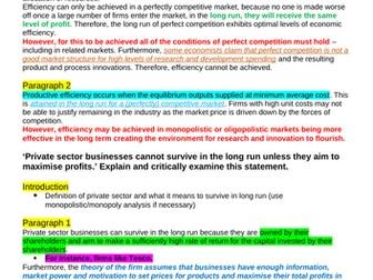 Theme 3 Edexcel Economics Essay Plans: Business Growth / Efficiency / Pricing Strategies