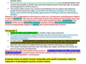 Theme 4 Edexcel Economics Essay Plans: Poverty and Inequality