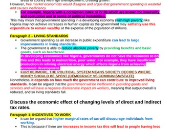 Theme 4 Edexcel Economics Essay Plan: Role of the State