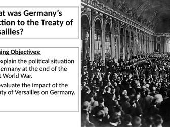AQA: German Reaction to the Treaty of Versailles