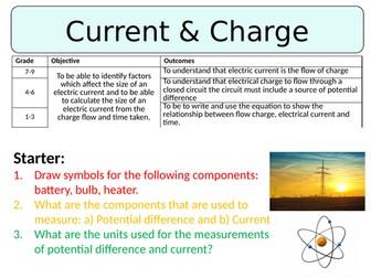 NEW AQA GCSE (2016) Physics  - Current & Charge