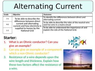 NEW AQA GCSE (2016) Physics - Alternating Current
