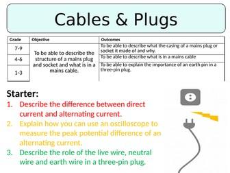 NEW AQA GCSE (2016) Physics - Cables & Plugs