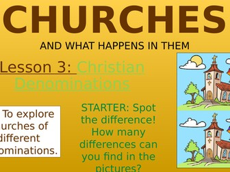 Churches - Christian Denominations!