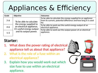 NEW AQA GCSE (2016) Physics - Appliances & Efficiency