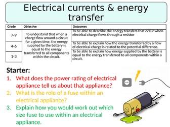 NEW AQA GCSE (2016) Physics - Electrical Currents & Energy Transfers