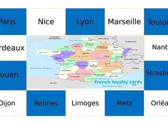 French Reward/Loyalty card