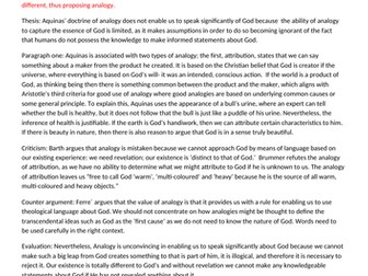 """""""Assess the claim that Aquinas' doctrine of analogy enables us to speak significantly of God"""" RL"""