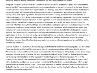 """""""Assess whether Christianity and Feminism are compatible"""" Gender and Theology essay"""