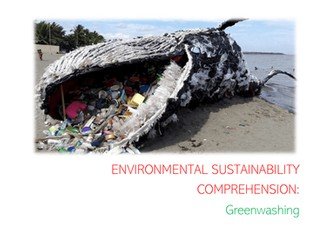 Nat 5 English Plastic Pollution/Climate Change/Environmental Sustainability Comprehension Booklet