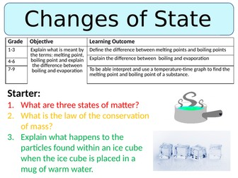 NEW AQA GCSE (2016) Physics - Changes of State