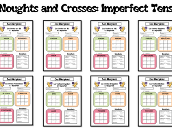 Morpions/ Noughts and Crosses- Grammar/ Conjugation Game- Imperfect Tense- French KS4-KS5