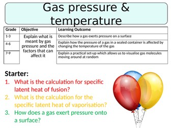 NEW AQA GCSE (2016) Physics - Gas Pressure & Temperature