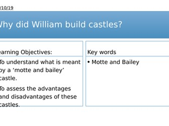 Year 7: Why did William build castles?