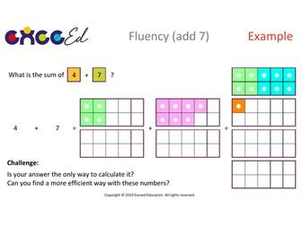 Fluency: Bridging (add 7 with Numicon)
