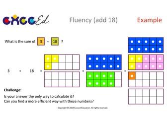 Fluency: Bridging (add 18 with Numicon)