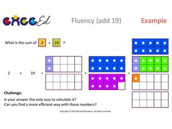 Fluency: Bridging (add 19 with Numicon)