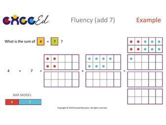 Fluency: Bridging (+ 7 with Tens Frame)