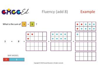 Fluency: Bridging (+ 8 with Tens Frame)