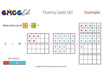 Fluency: Bridging (+ 16 with Tens Frame)