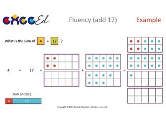 Fluency: Bridging (+ 17 with Tens Frame)