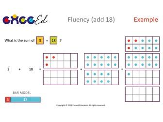 Fluency: Bridging (+ 18 with Tens Frame)