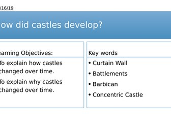 Year 7: How did castles develop over time?